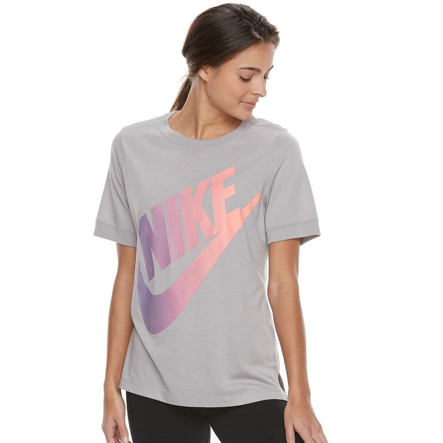 d5e20e864 Women's Nike Sportswear Large Logo Graphic Tee, Dark Grey | Products ...