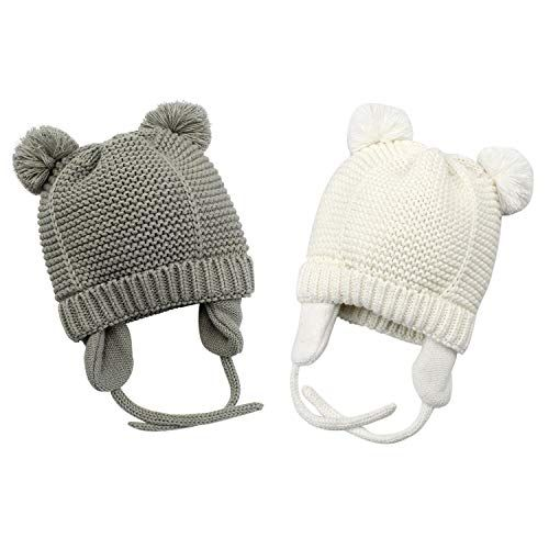 c59f7d8154b72 Bestjybt Baby Hat Cute Bear Infant Toddler Earflap Fleece Lined Beanie Warm  Caps for Fall Winter