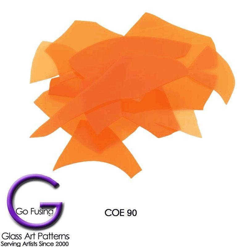 Bullseye Confetti Glass Orange Opalescent COE90