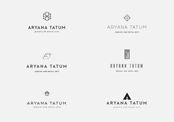 Credit to Natalia Bivol for this amazing branding design.  Aryana Tatum Jewelry / Identity Design on Behance