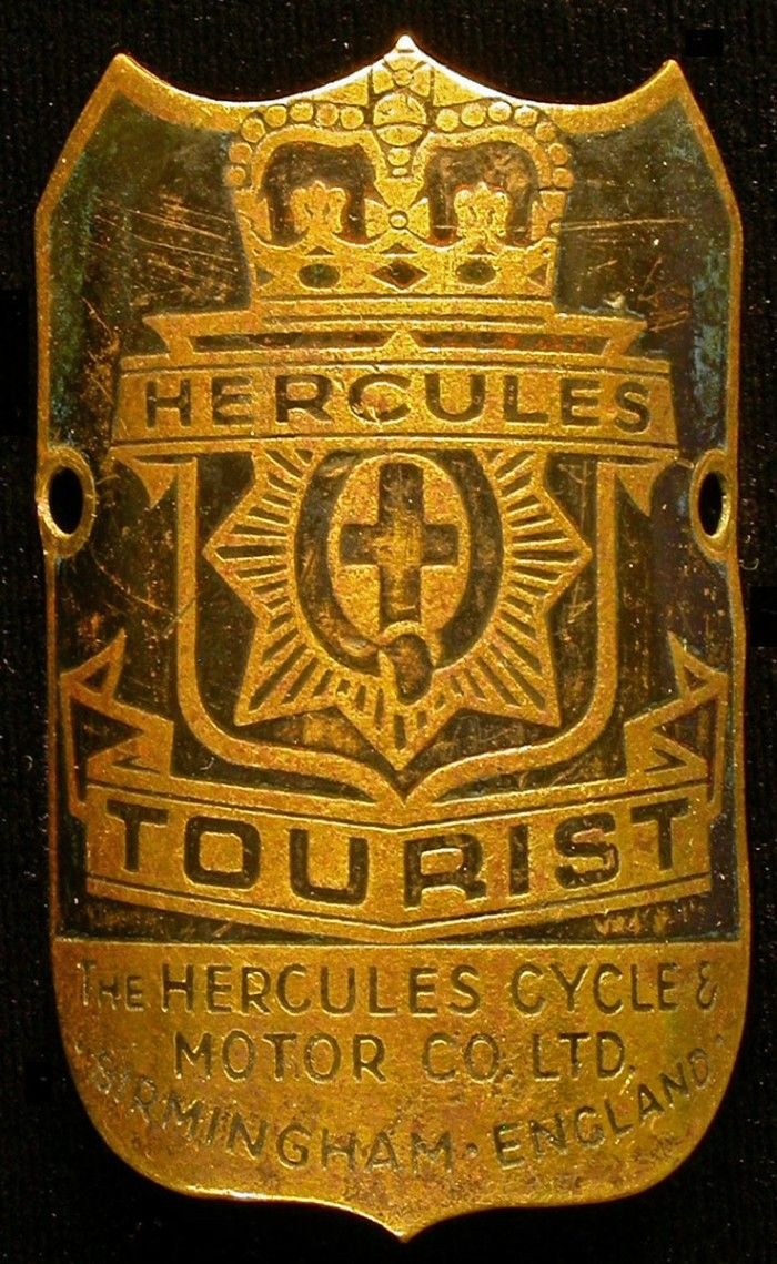 New Look motorcycle bicycle head tube badge Netherlands antique bikes cycle
