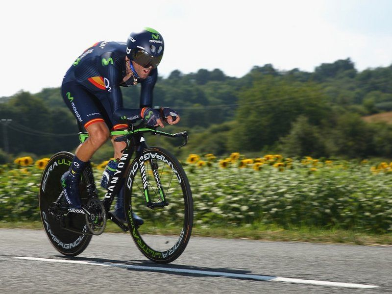 TOUR DE FRANCE STAGE 20 Attention turned to the battle for the overall podium as Alejandro Valverde started his effort...