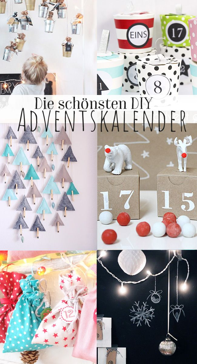 hier findet ihr kreative ideen f r einen adventskalender diy adventskalender basteln. Black Bedroom Furniture Sets. Home Design Ideas