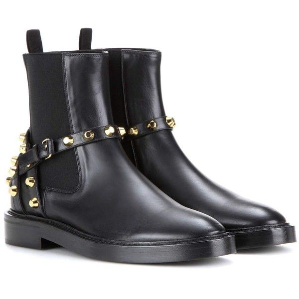 Balenciaga Embellished Leather Chelsea Boots ($1,165) ❤ liked on ...