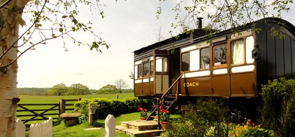 Camping Coach | Train carriage in Dorset | Canopy & Stars