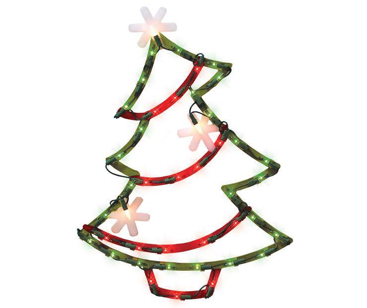Light-Up Christmas Tree Window Art at Big Lots Christmas