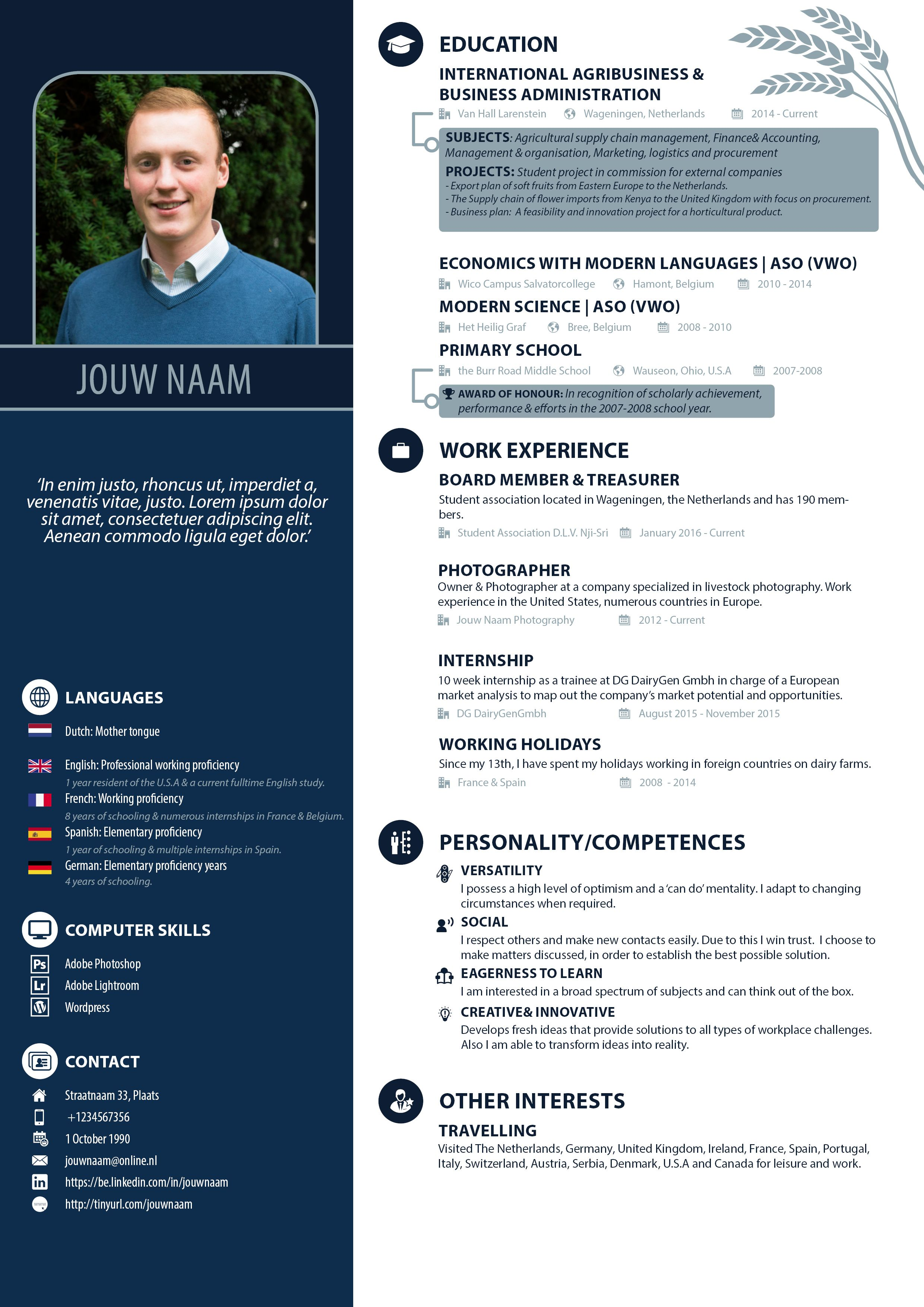 Cv Template With Photo Creative Resume Template Word Professional Resume Template Instant Download Marketing Resume Executive Resume