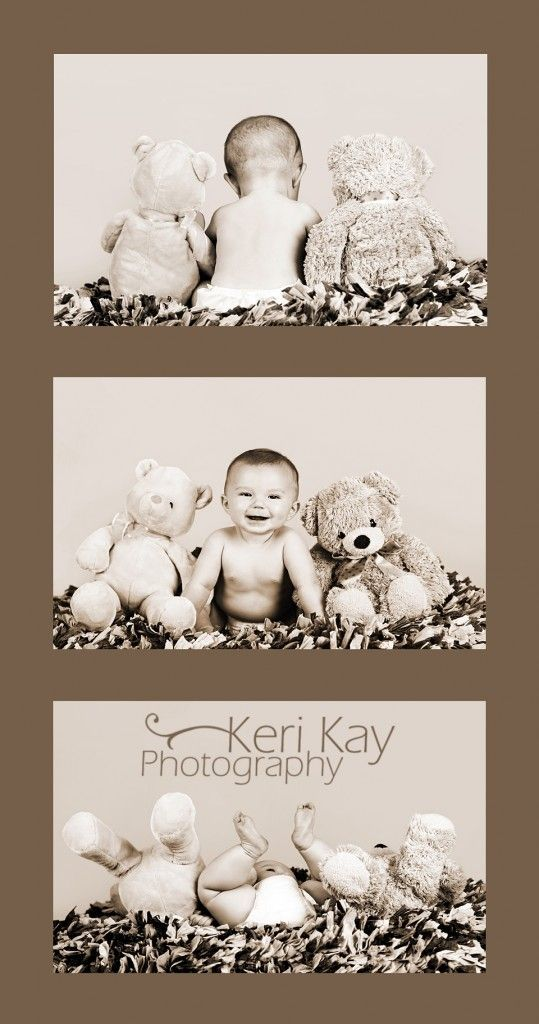 Cute baby shoot with stuffed animals