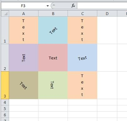 Tutorial \u2013 MS Excel \u2013 How to Write Text Vertically or at an Angle in