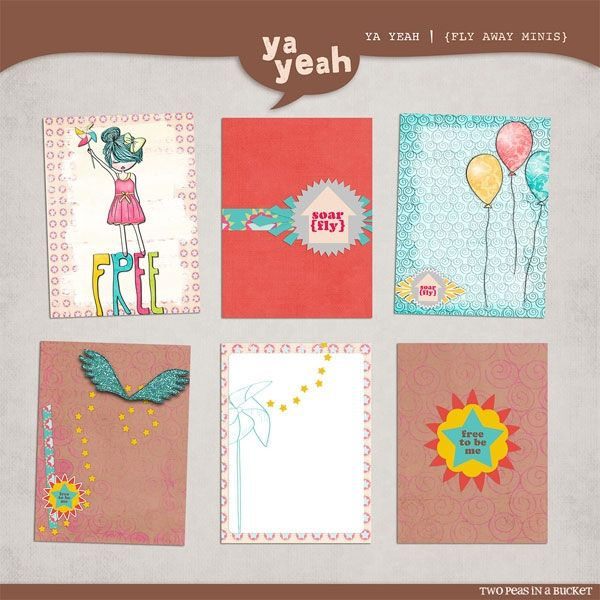 After Five Designs :: Embellishments :: Fly Away Journaling Cards by Ya Yeah Designs