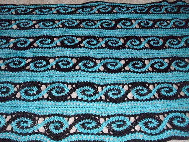 Ravelry: Project Gallery for Spirals Throw pattern by Marilyn Losee