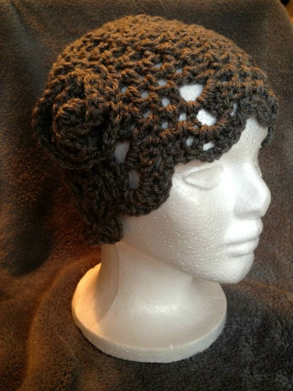 HandCrochet Grey Flapper hat by kElaineBoutique on Etsy, $25.00