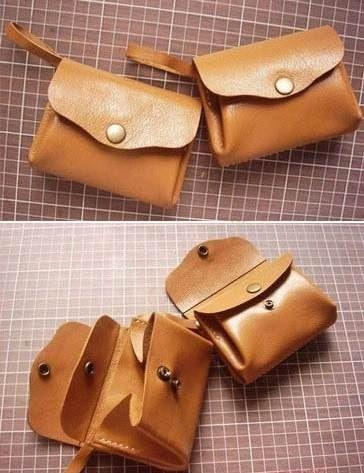 e7b2c6aa651d Molde para hacer carteras de cuero | costura | Carteras de cuero ...
