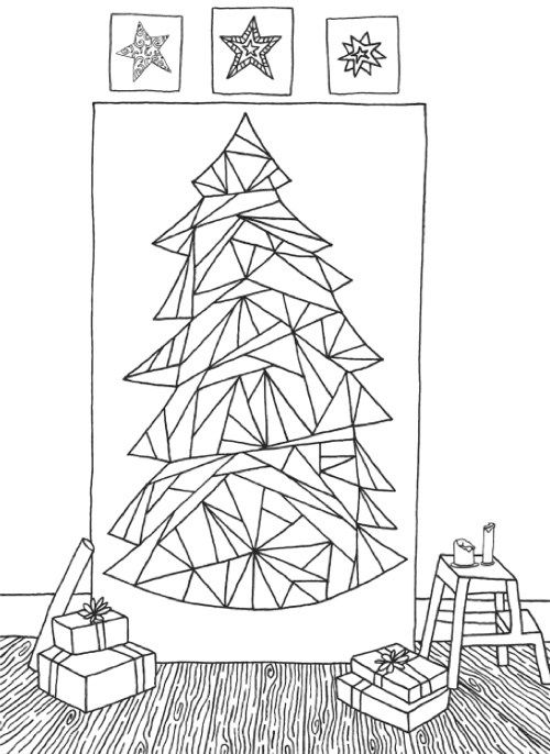 creative christmas tree coloring book a collection of classic contemporary christmas trees to color - Christmas Trees To Color