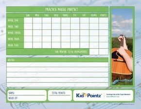 Free Printable Music Practice Log