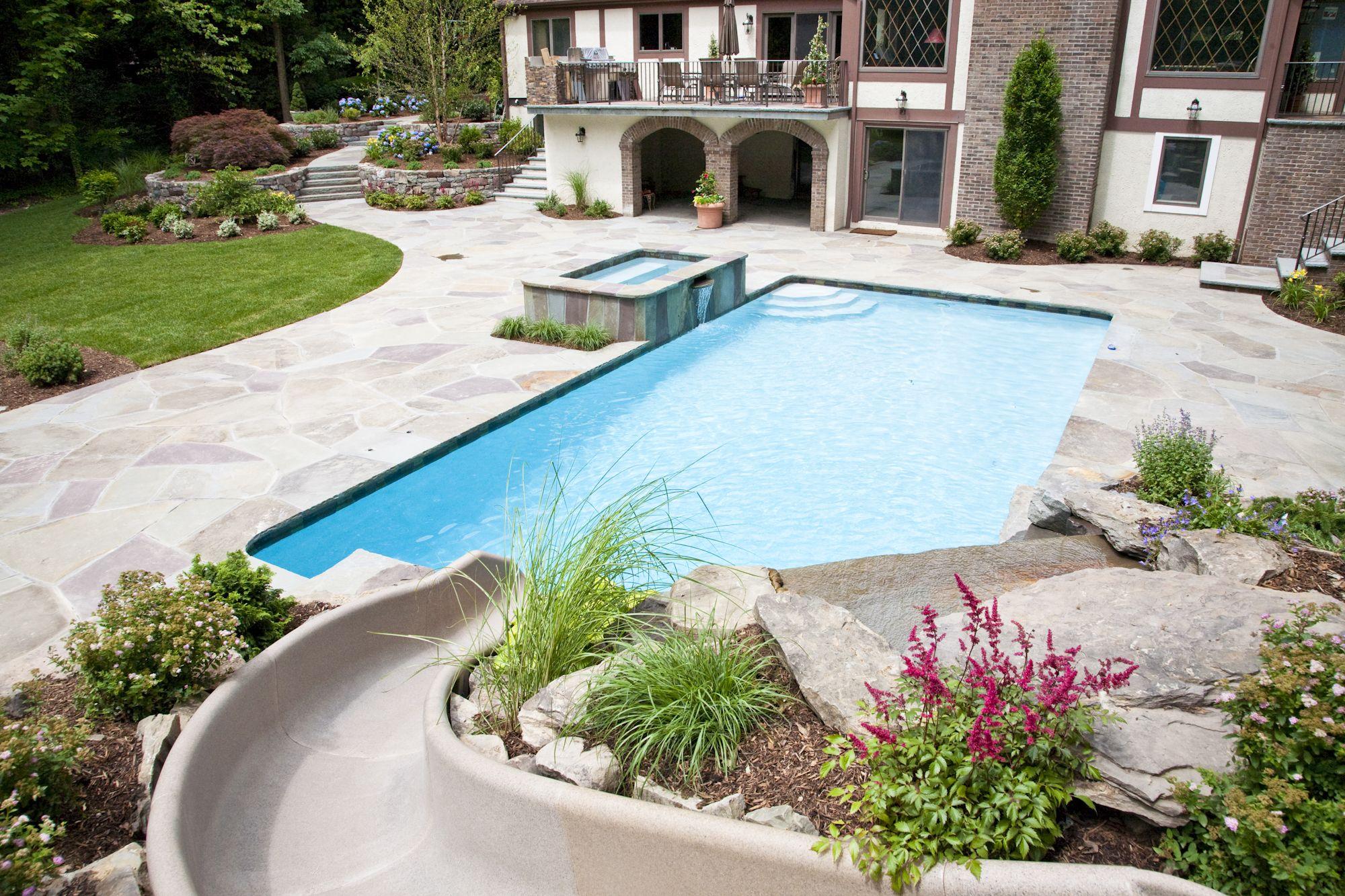 Backyard oasis | Custom swimming pool, Swimming pool ...