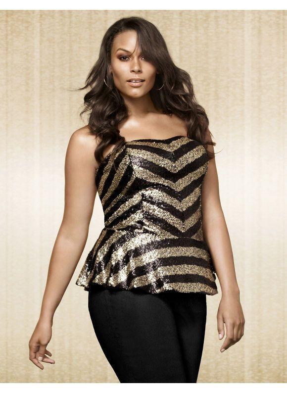 bdf7bde62fdb Lane Bryant Plus Size Sequin bustier top – - Women's Size 14/16,18/20,22/24, 26/28, Black