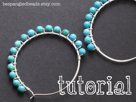 Wire Jewelry How To Make Wirewred Hoop Earrings Pdf Tutorial Making Instructional