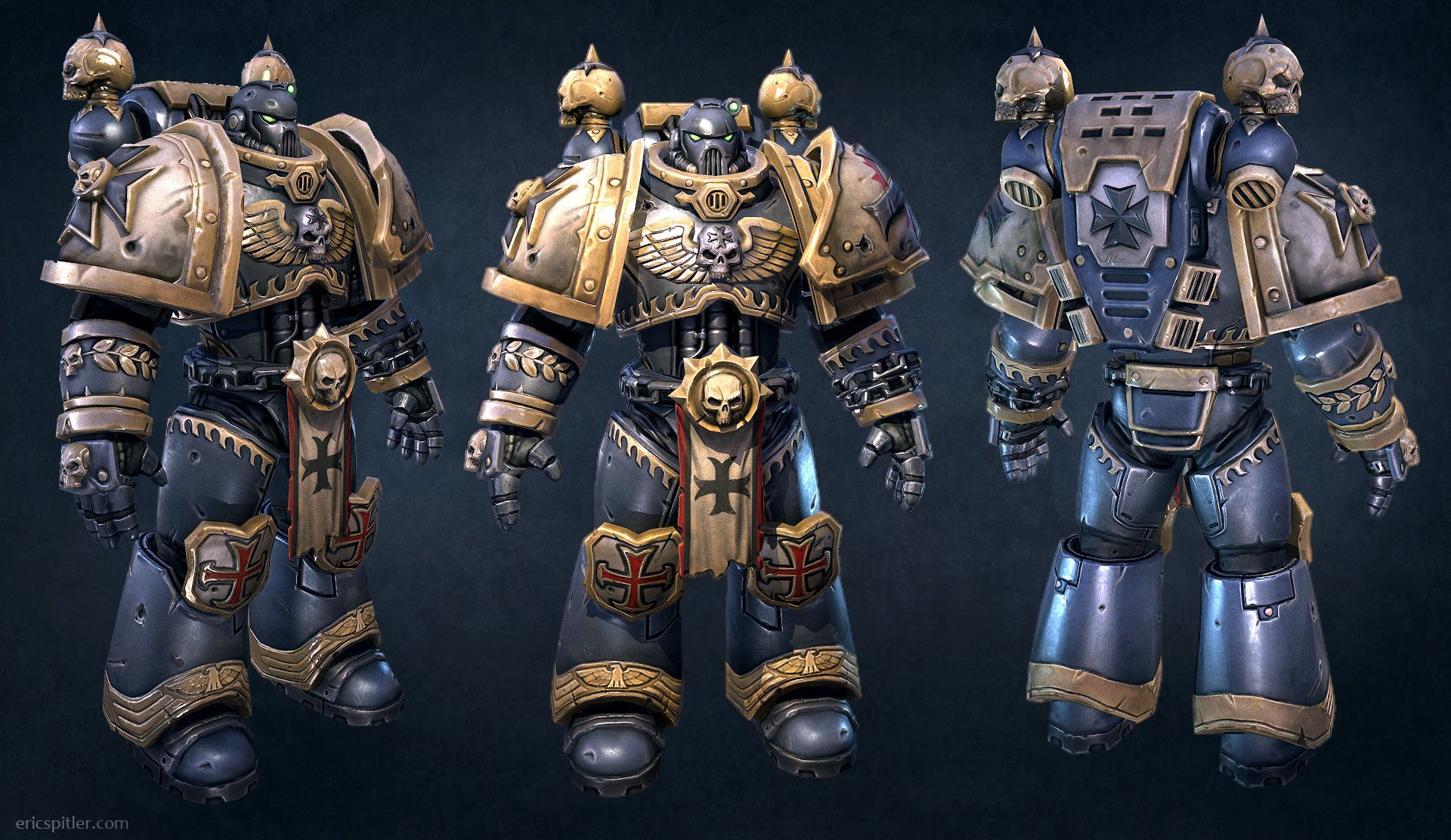 Warhammer 40k Space Marines: Here's Another Space Marine I Did At Vigil Games. The