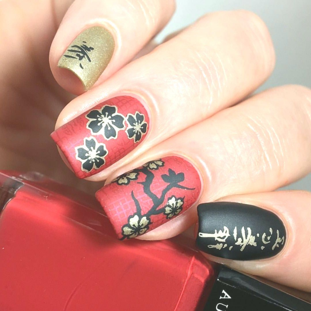 Chinese New Years Nails May the new year bring you good