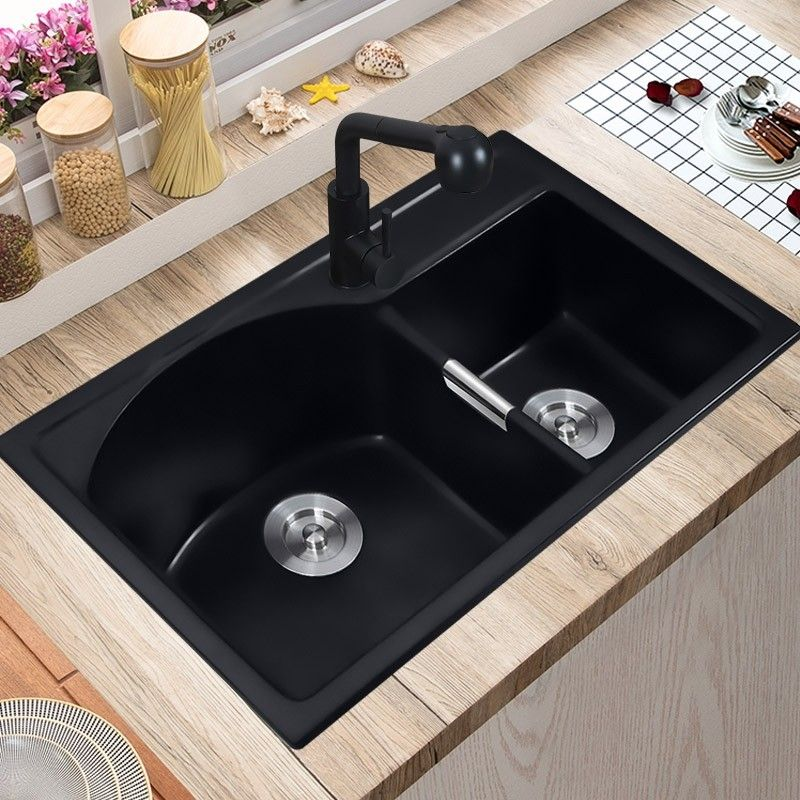 Modern 32 Granite Kitchen Sink Drop In Sink Double Bowl Kitchen Sink Quartz Kitchen Sink Matte Black Double Bowl Kitchen Sink Sink Bowl Sink