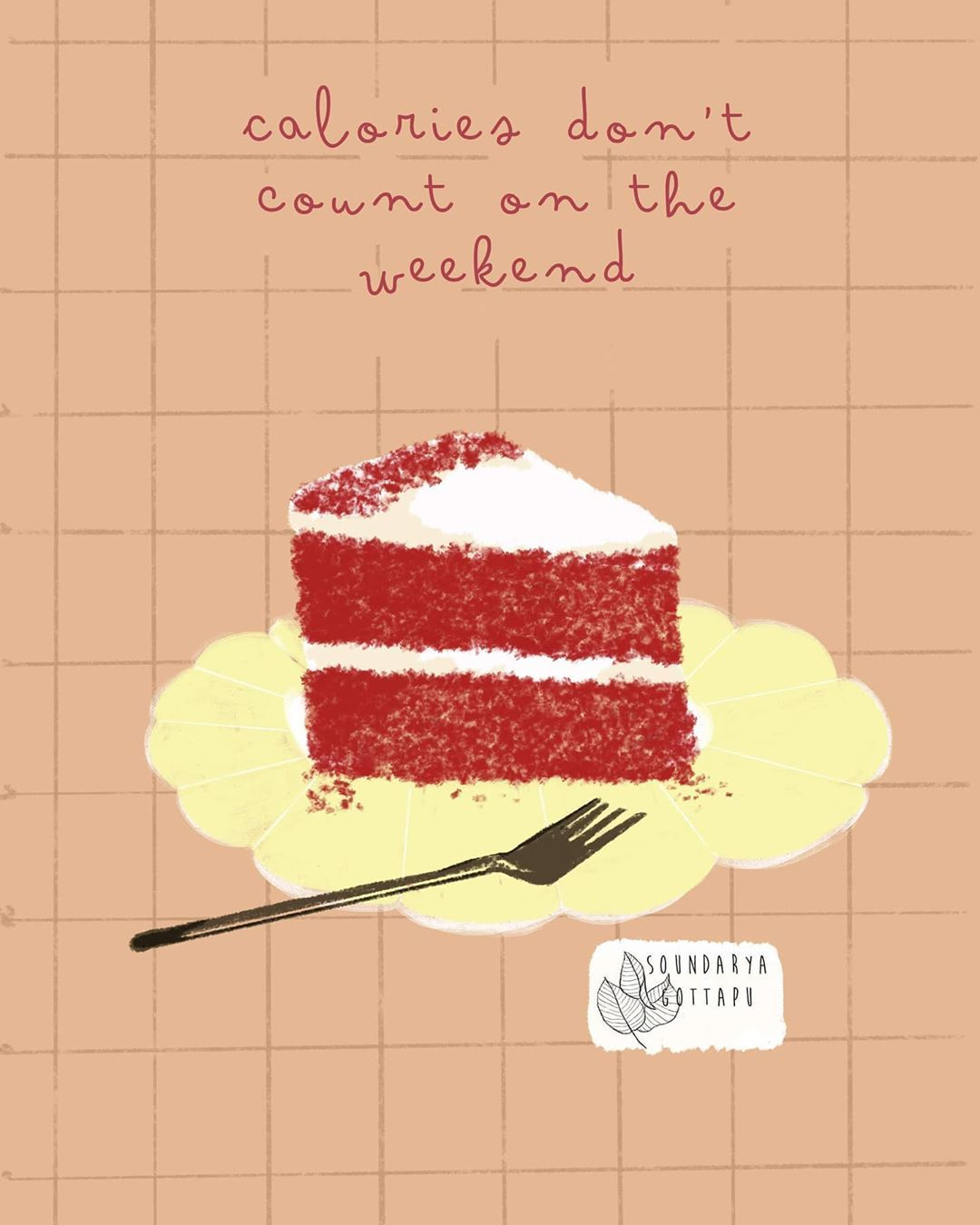 40 Likes 5 Comments Soundarya Gottapu Soundaryagottapu On Instagram I Had To Double Check That It S Friday Today In 2020 Dessert Illustration Desserts Cake