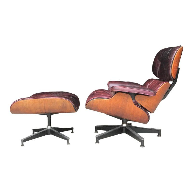 Rare Early Three Screw Eames Lounge Chair Ottoman Herman Miller