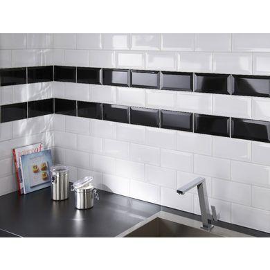 Carrelage murs CHARLOTTE uni à bords biseautés 10 x 20 cm Showers
