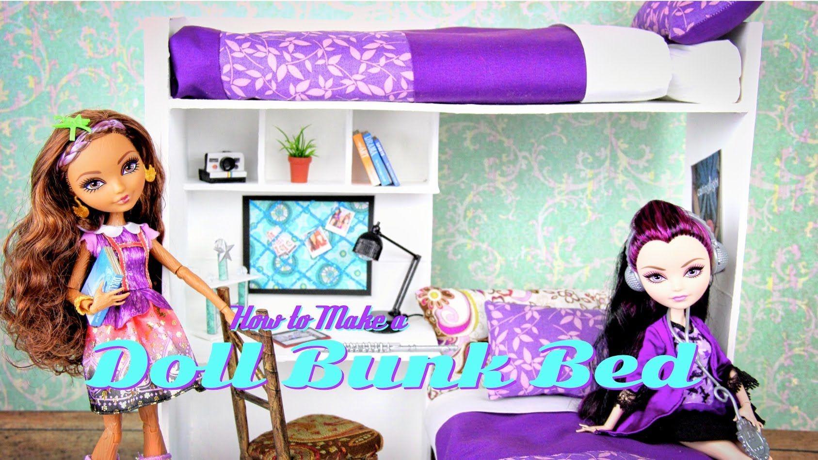 Puppen Etagenbett Holz : How to make a doll bunk bed plus desk puppen welt pinterest