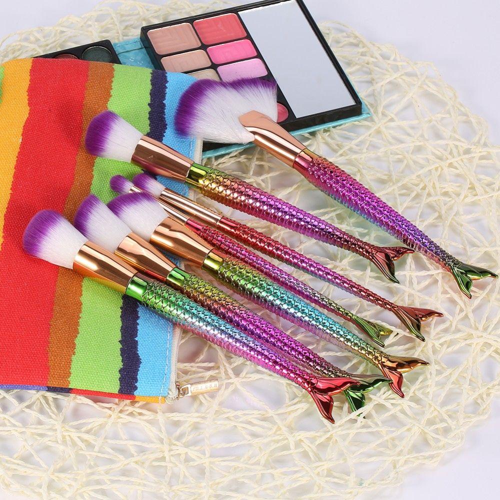 Rainbow Color Mermaid brushes set Gift for girls Mermaid