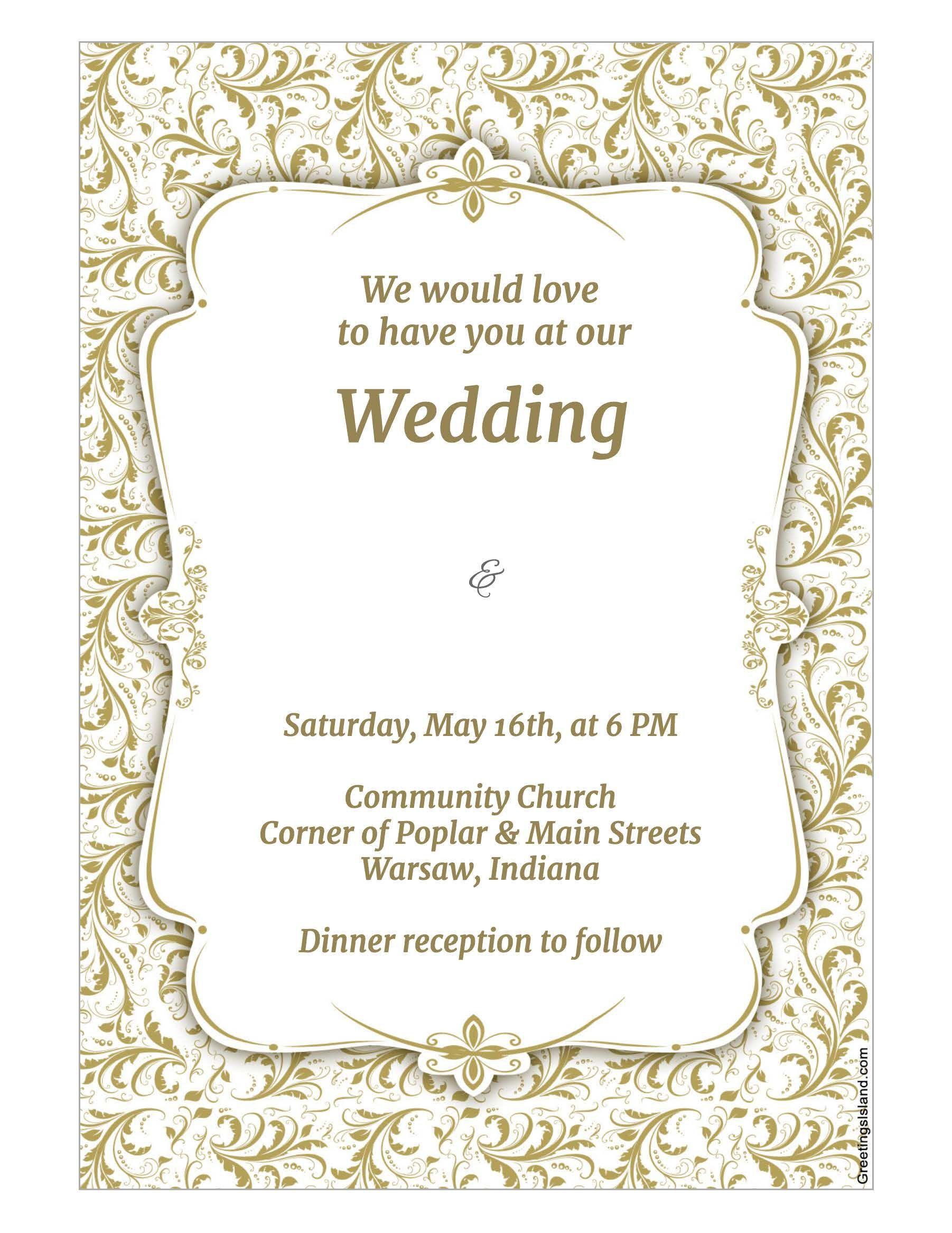 wedding invitation : wedding invitation template - Superb Invitation ...