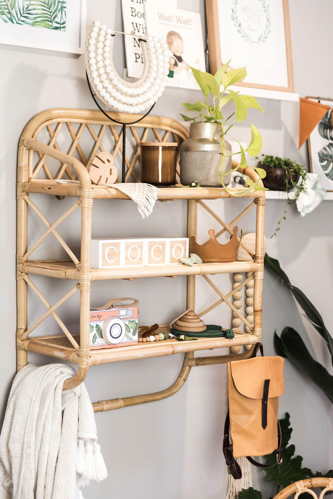 Sim Rattan Shelf Coco Rose Interiors Shelves Decor Rattan