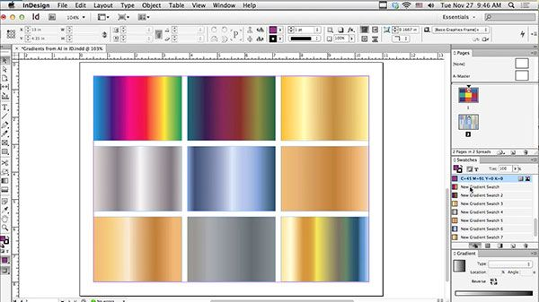 Using Illustrator Gradients in Adobe InDesign « Layers Magazine