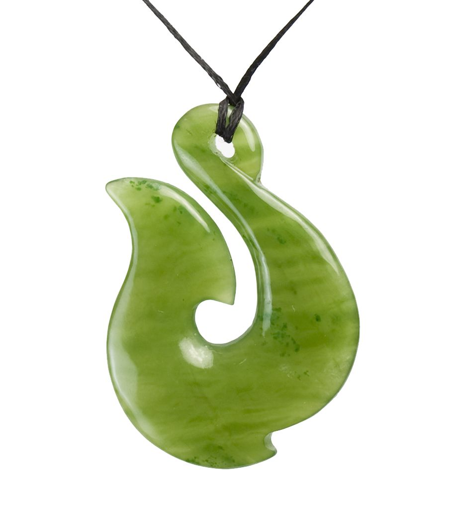 Canadian green jade fish hookhei matau necklace mountain jade new canadian green jade fish hookhei matau necklace mountain jade new zealand mozeypictures Image collections