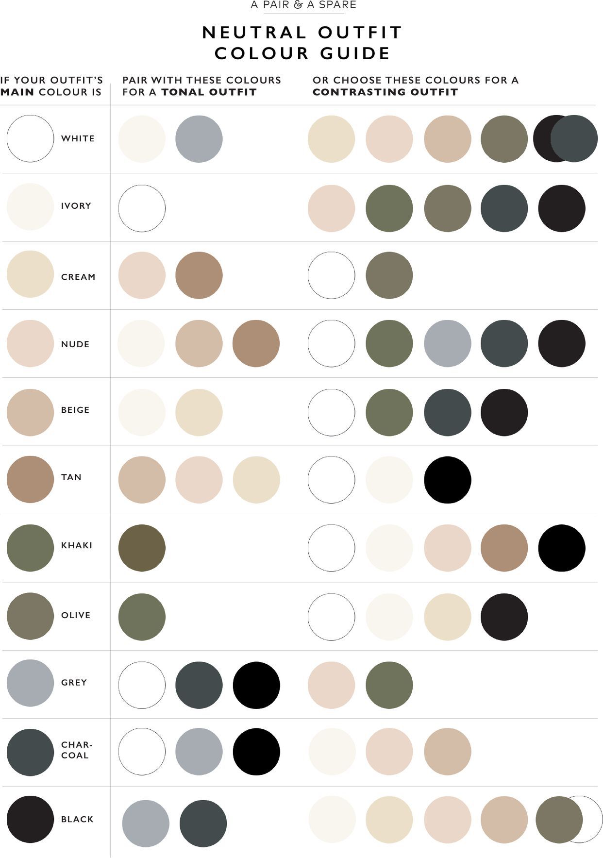 Photo of Match colors (left side is the primary color)