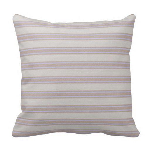 Mocha Striped Throw Pillow