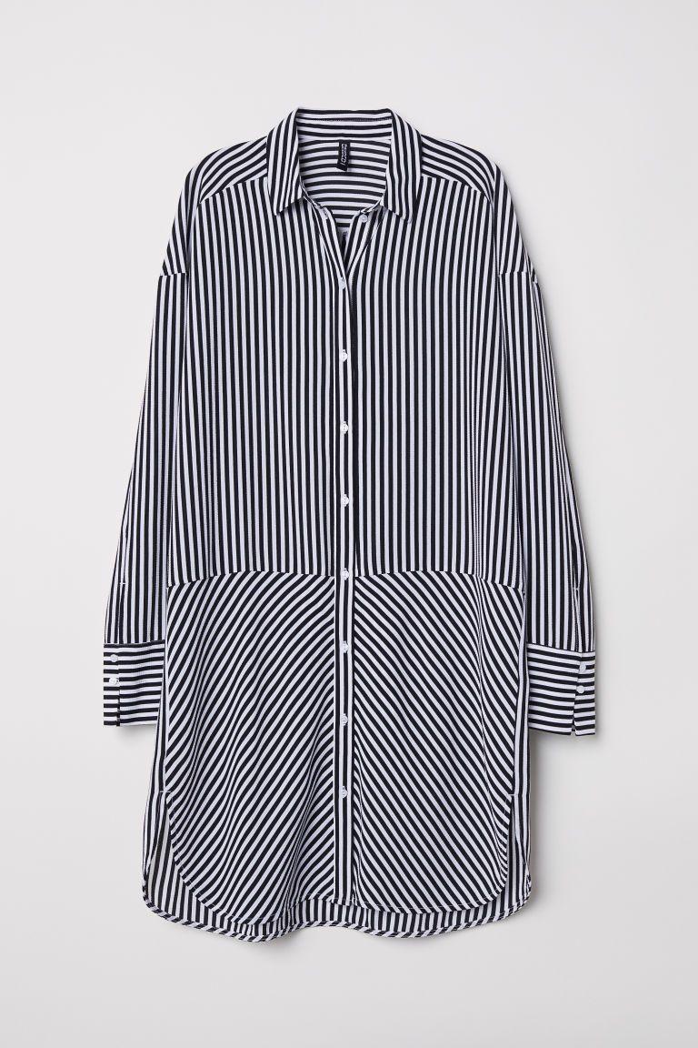 Robe chemise rayée en 2020   Robe chemise, Robe chemise