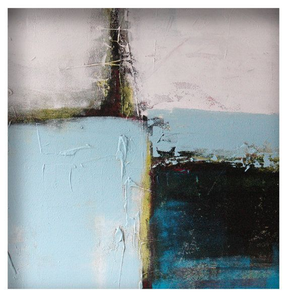 Large Original Abstract painting Lots in Grey Blue by RonaldHunter, €219.00