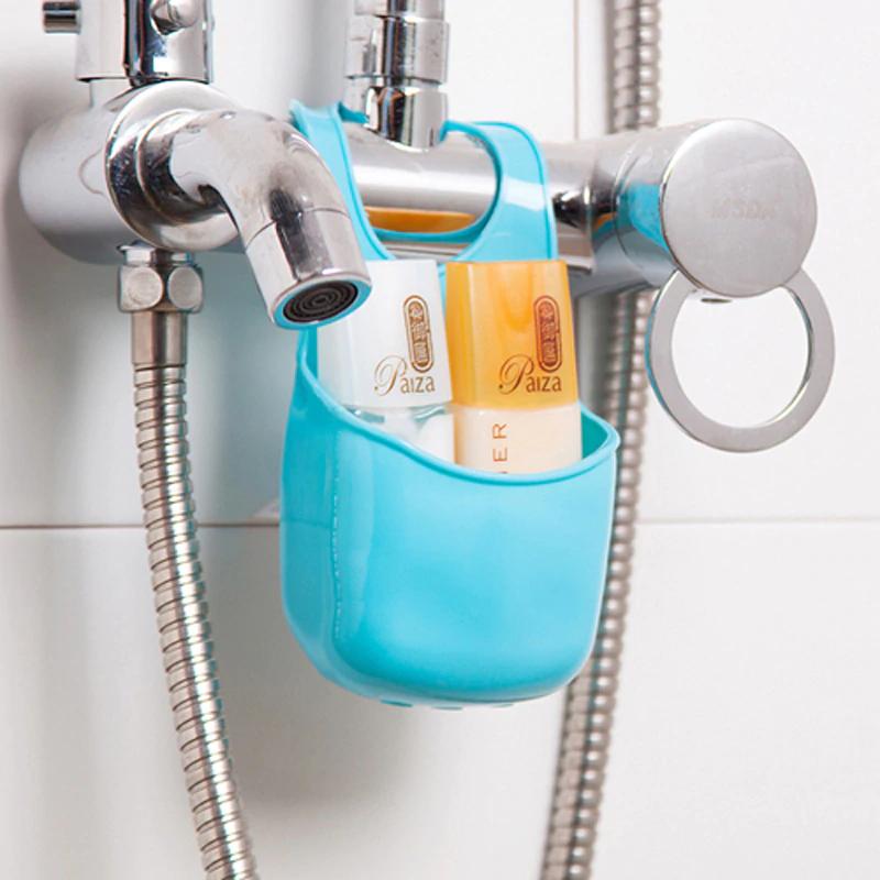 Bathroom Accessories Soap Dish Organizer Box Plastic Sink Hanging