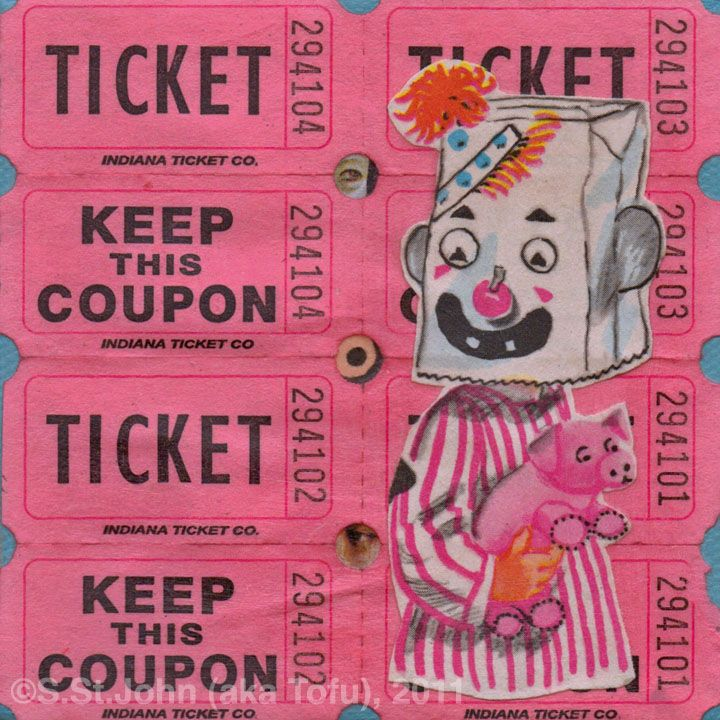 Pink is admittedly not the most common color in my palette.  But with 365 pieces for the 2011 Project, there were inevitably going to be a few pink pieces.  This one titled Keep This Coupon is going up to Sacramento for Pink Week.    Follow the link for more details.