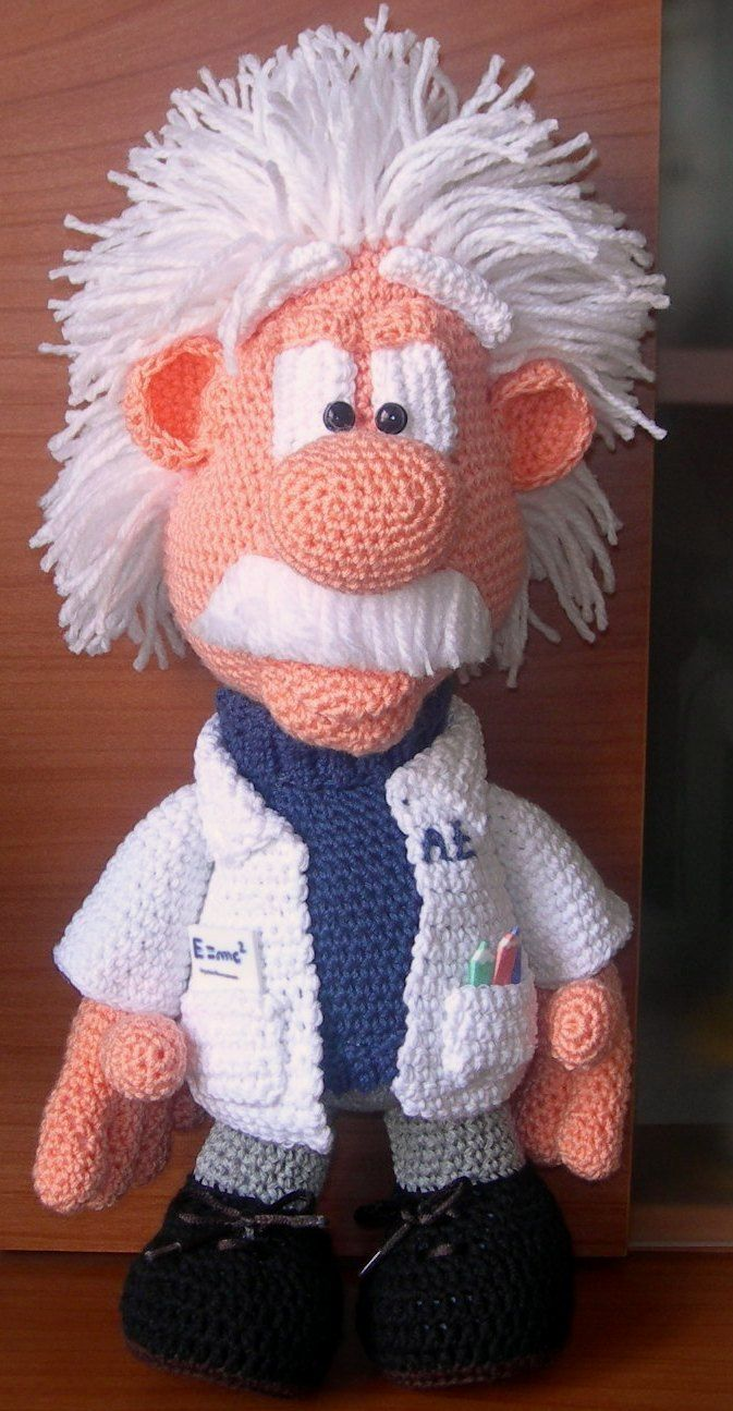 Albert Einstein Oh baby! I need one of these! Lol | Crochet :-) Love ...