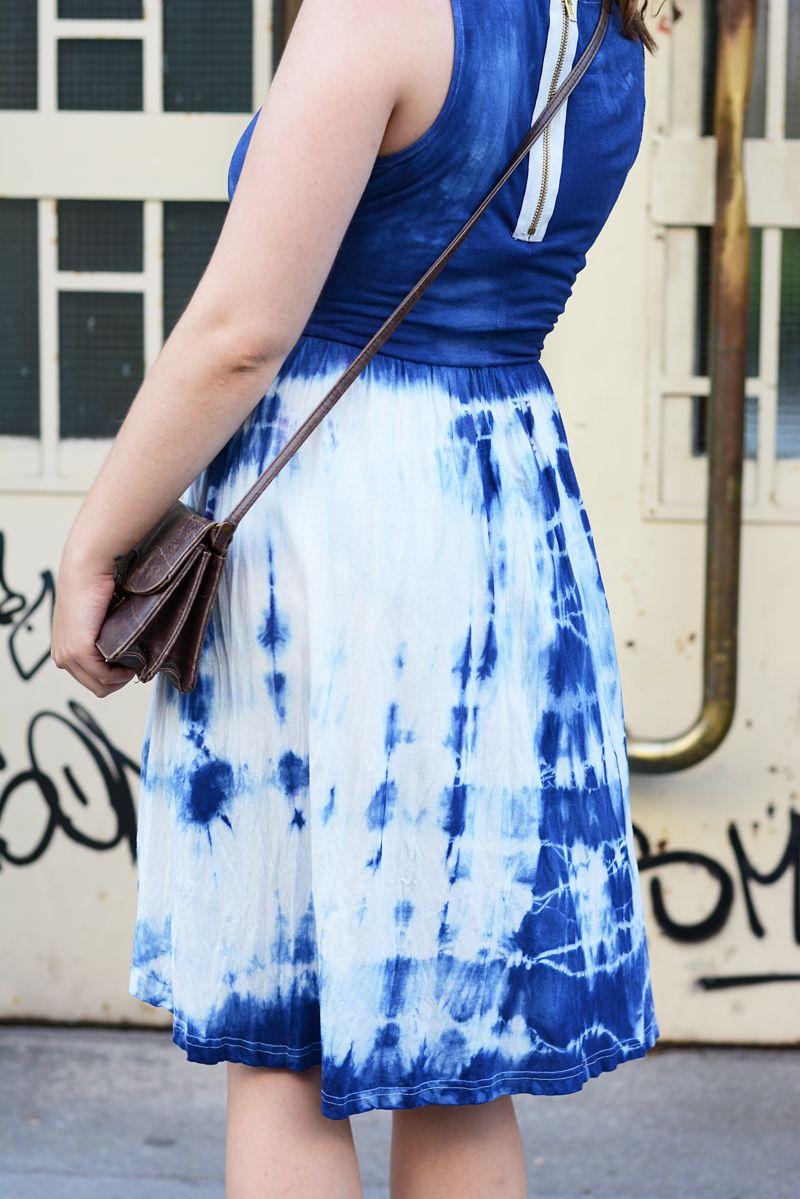 diy: kleid mit shibori-technik färben | diy mode - kleidung und