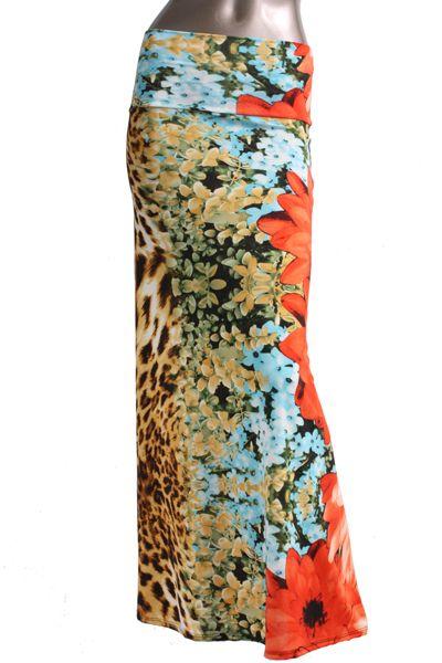 Leopard Floral Maxi Skirt - Mya Addisyn, LLC I Boutique Clothing & Accessories  - www.MyaAddisyn.com