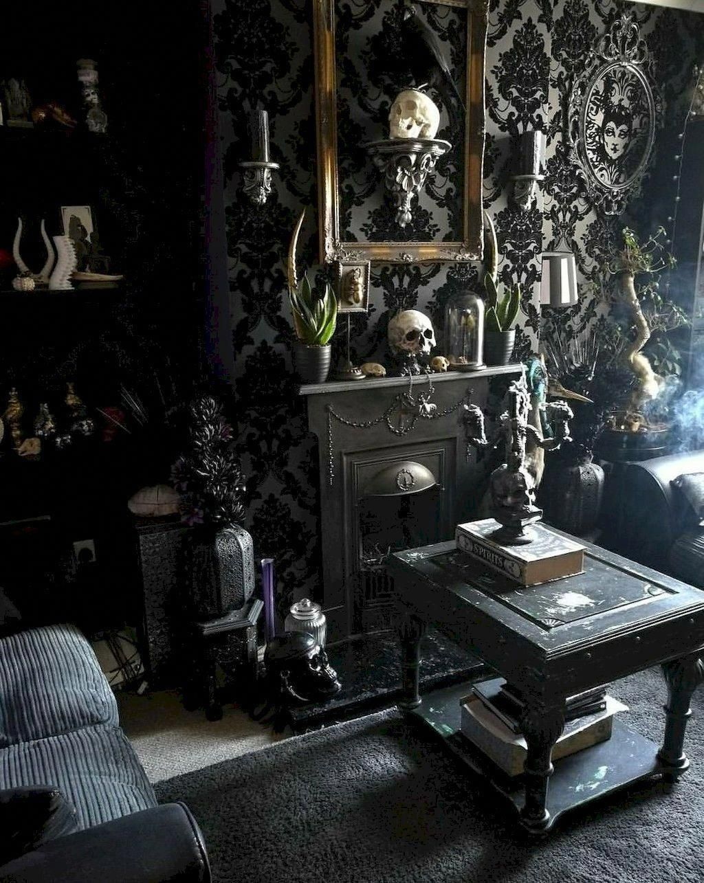 Calm Living Room Decor On A Budget This Site Gothic Living Rooms Halloween Living Room Gothic Home Decor