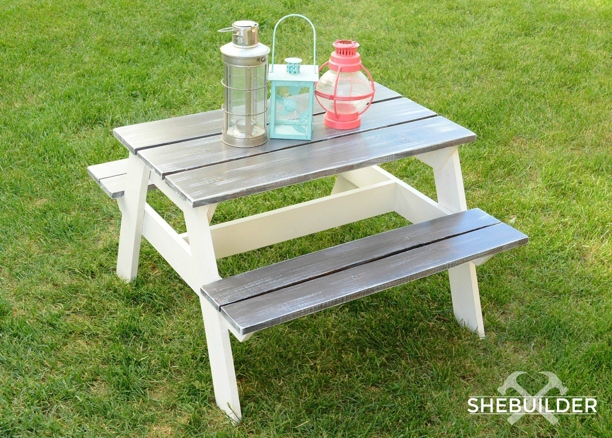 Diy Kids Picnic Table Plans From Anna White Kids Picnic Table Kids Picnic Table Plans Diy Picnic Table