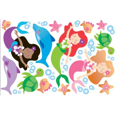 Wallies Mermaid Wall Decal U0026 Reviews | Wayfair
