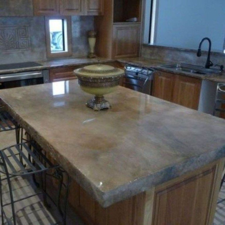 Rustic Farmhouse Concrete Countertops 02 Decorhead Com