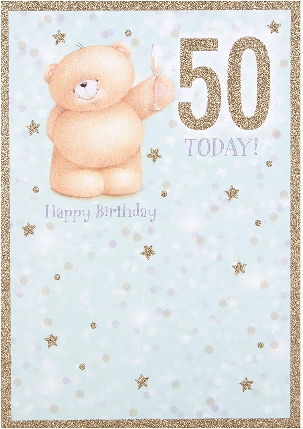 Hallmark Forever Friends 50th Birthday Card You Re Fabulous Medium Old Model Amazon Co Uk Welc Forever Friends Bear Friends Forever 50th Birthday Cards