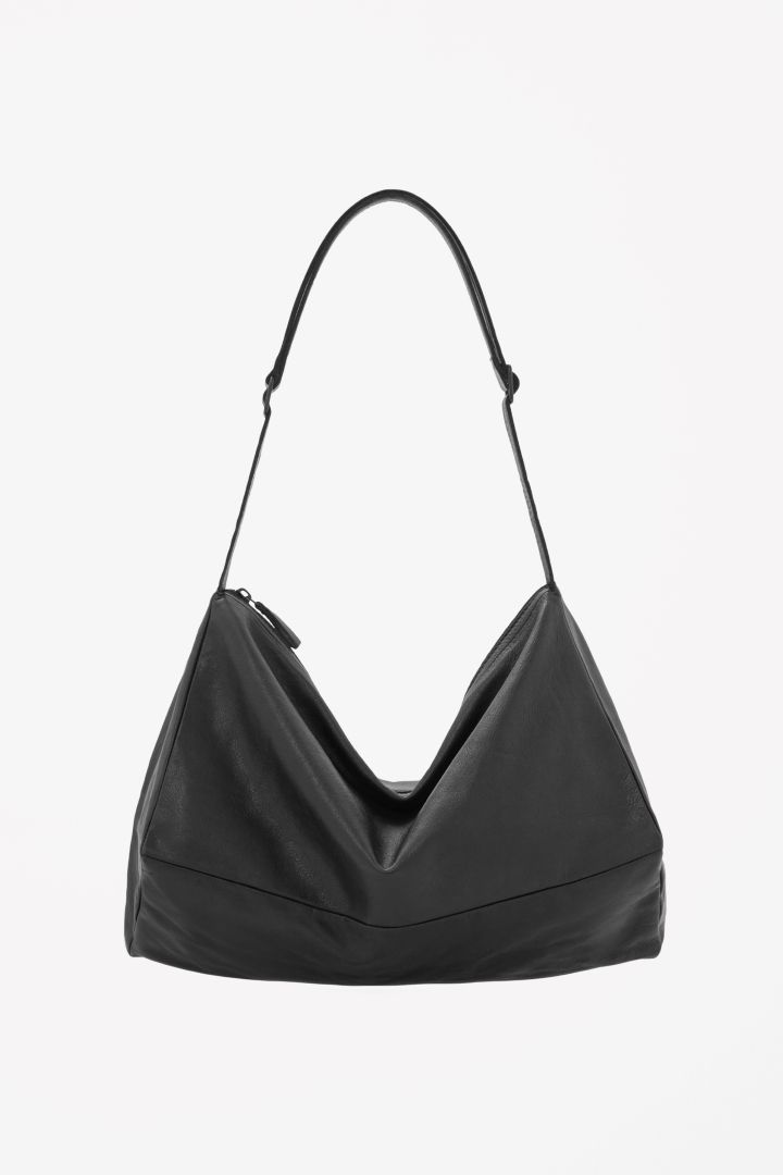Cos Unstructured Leather Bag