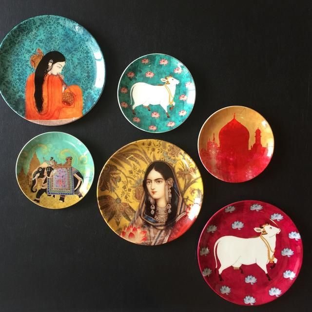 Beautiful Collection Of Ceramic Wall Plates Displayed